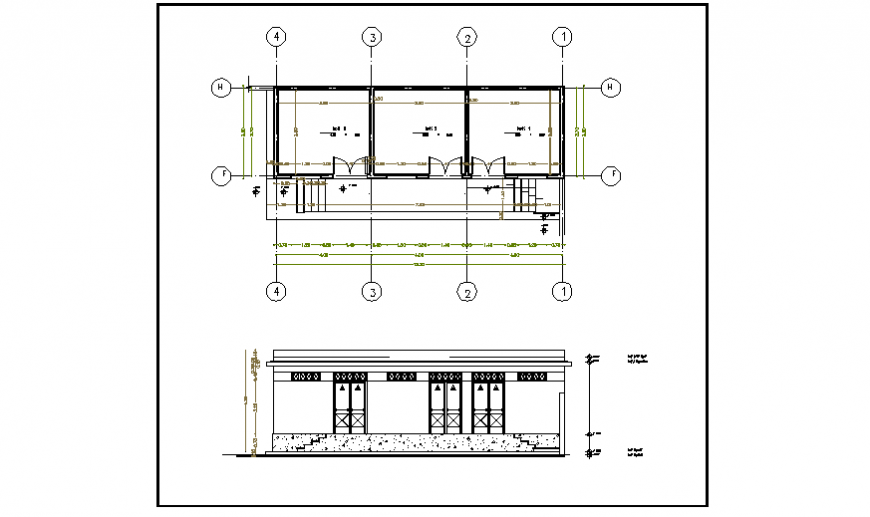 Store floor plan design drawing of small villa design