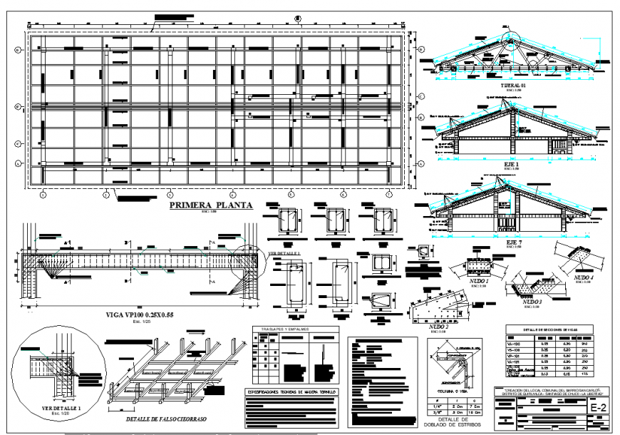 Structural commercial building plan layout file