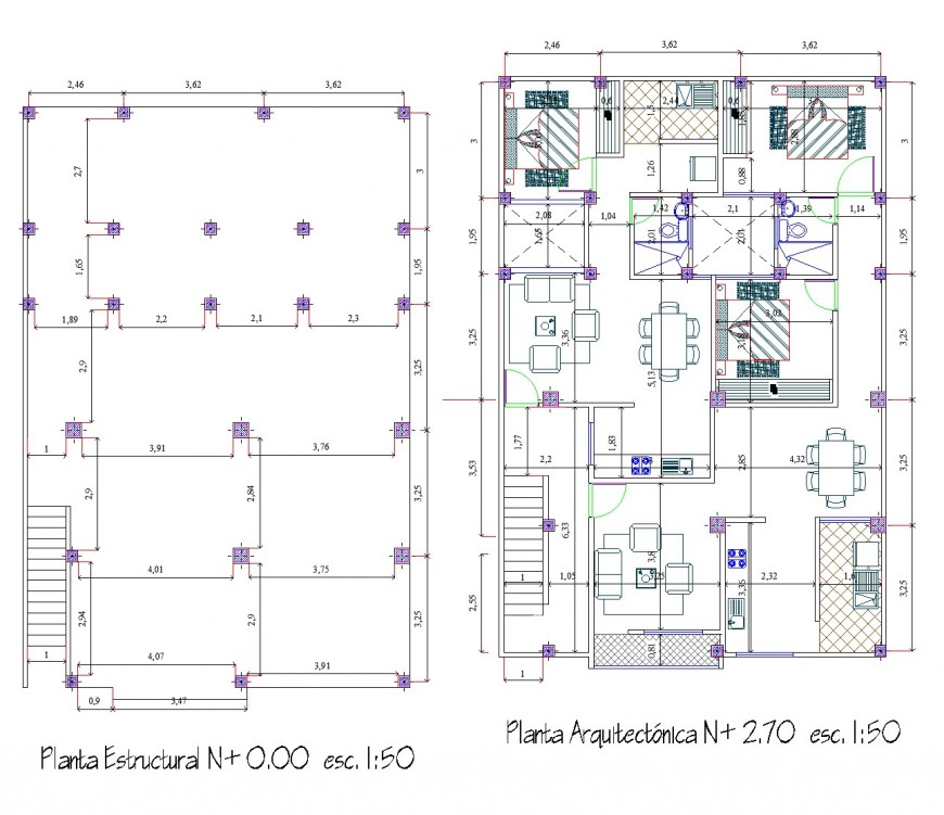 Structural housing plan layout file