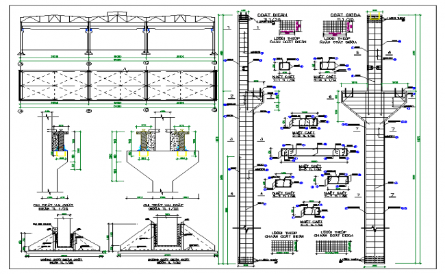 structure details of beam and column dwg file
