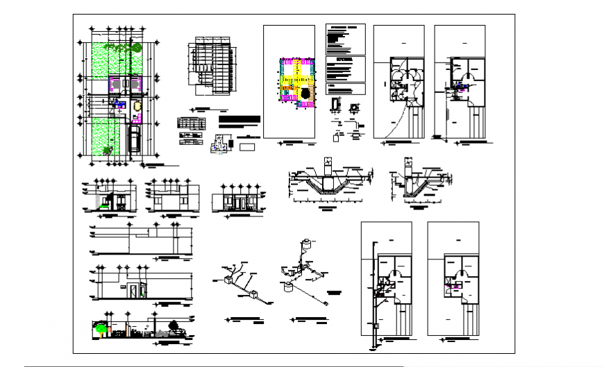 Structure design of Socio economic housing design drawing project