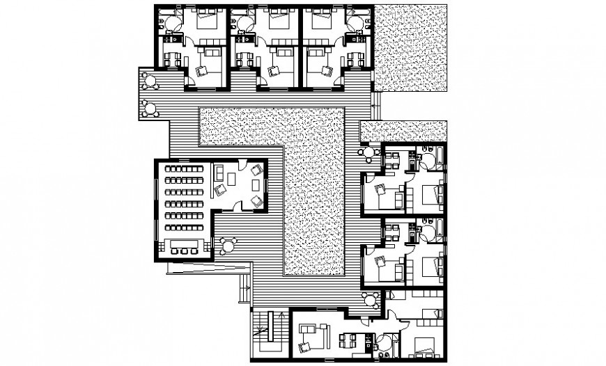Student Housing units details drawings 2d view work plan autocad file
