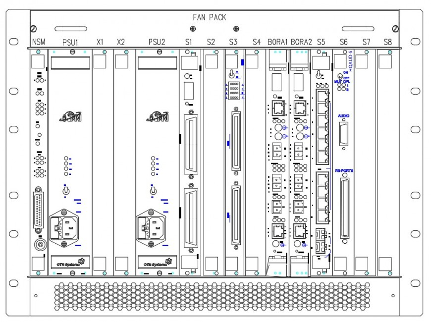 Sub rack layout plan AutoCad software of 2d cad drawing