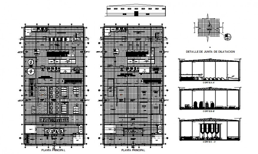 Sugar factory detail drawing in AutoCAD file.