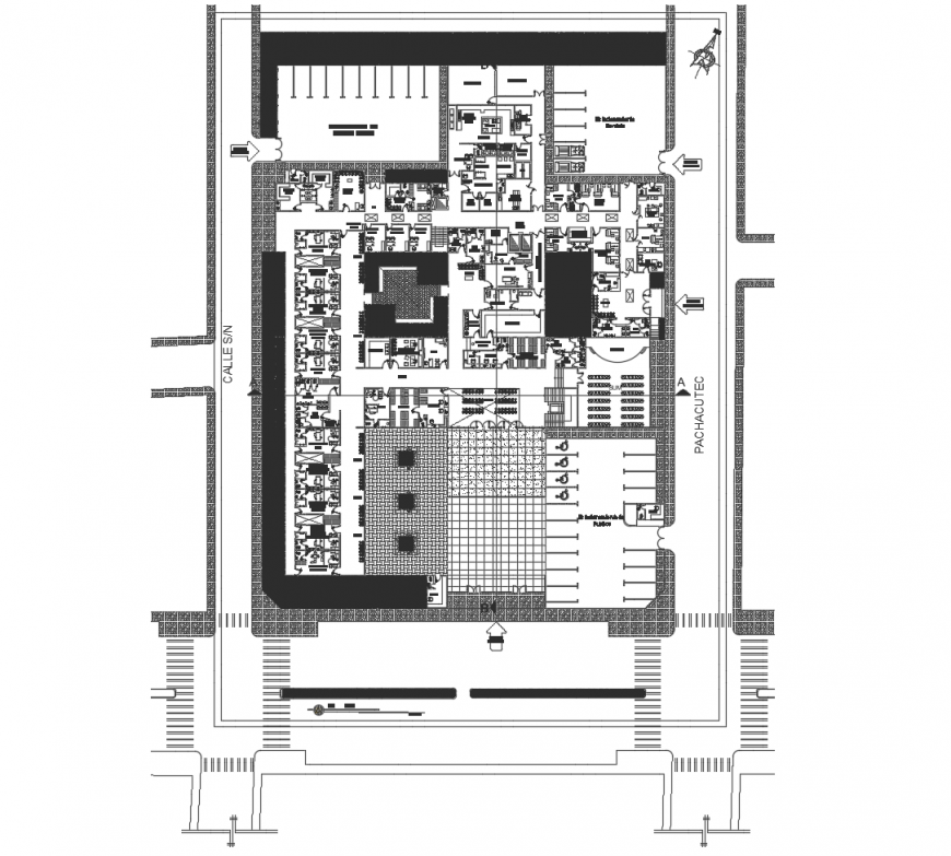 Suit area plan of hotel general plan in auto cad file