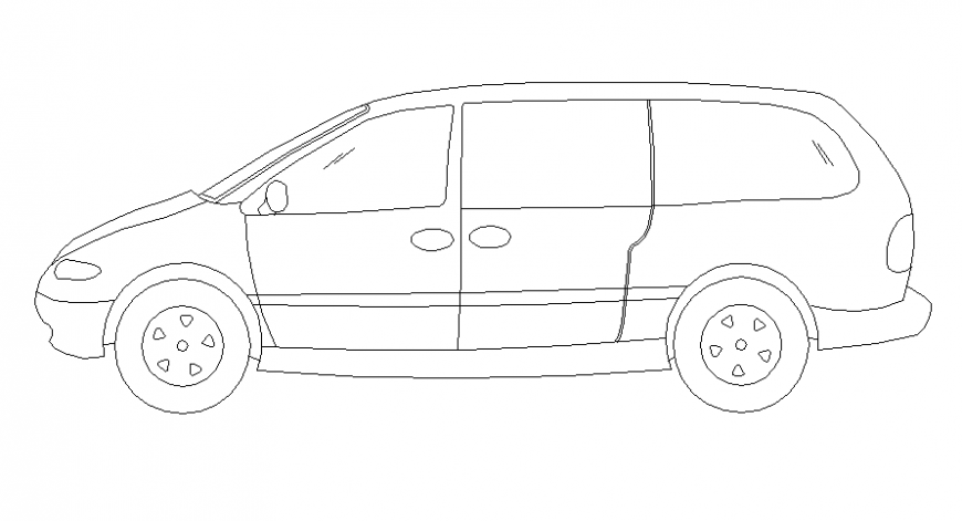 SUV model side elevation