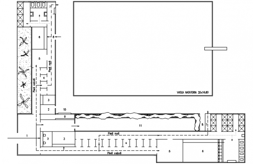 Swimming pool of resort layout plan cad drawing details dwg file