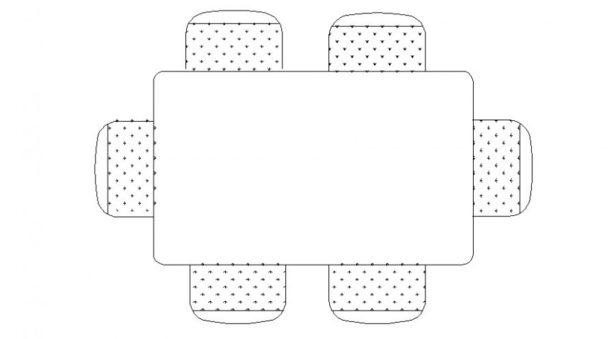 Table and chair furniture block 2d drawing elevation in AutoCAD