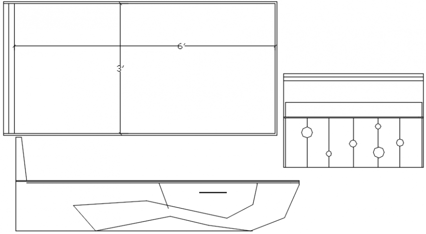 Table and furniture elevation blocks cad drawing details dwg file