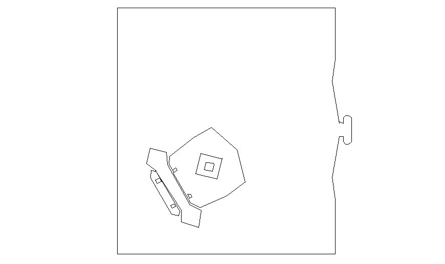 Table and telephone units detail drawing in autocad