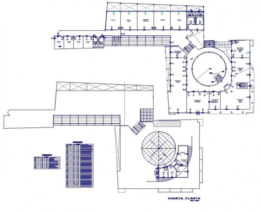 Table specification commercial building plan layout file