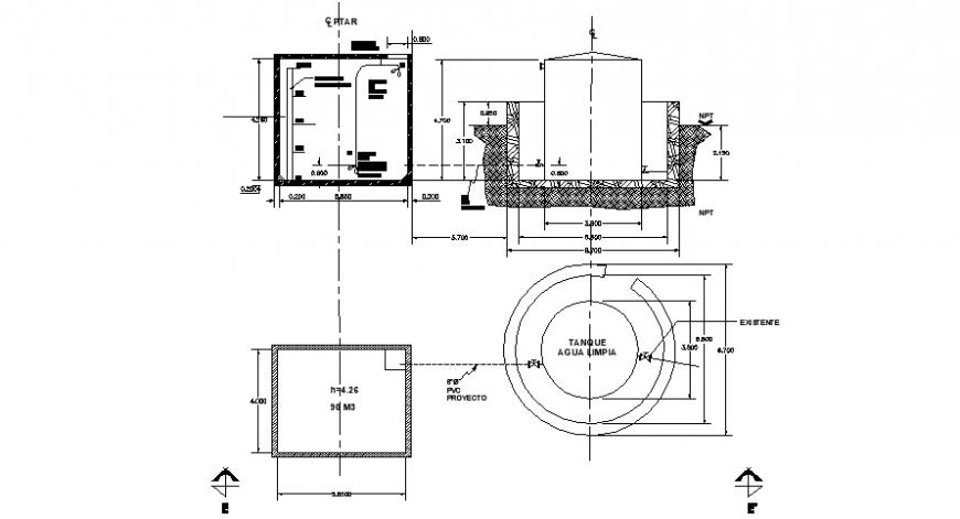 Tank 2d section details