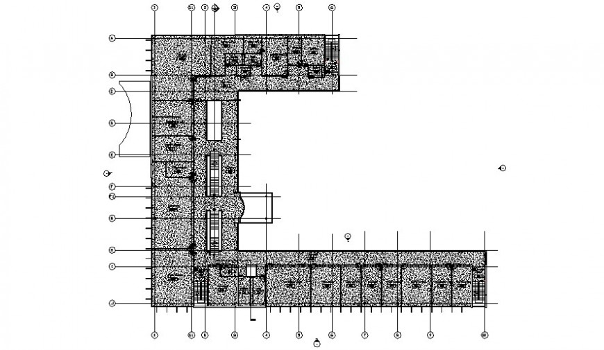 Technical school distribution plan cad drawing details dwg file