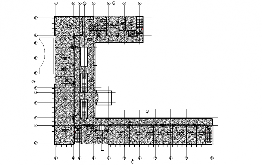 Technical school first floor layout plan cad drawing details dwg file