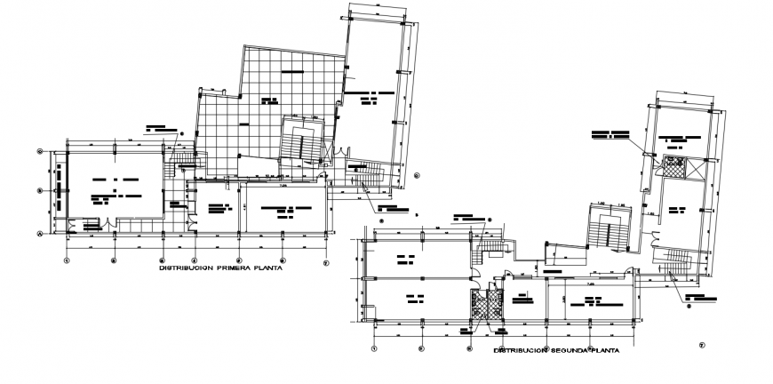 Technological superior institute distribution plan cad drawing details dwg file