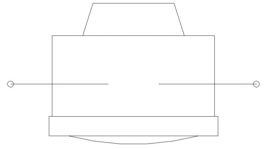 Television blocks elevation detail drawing in autocad