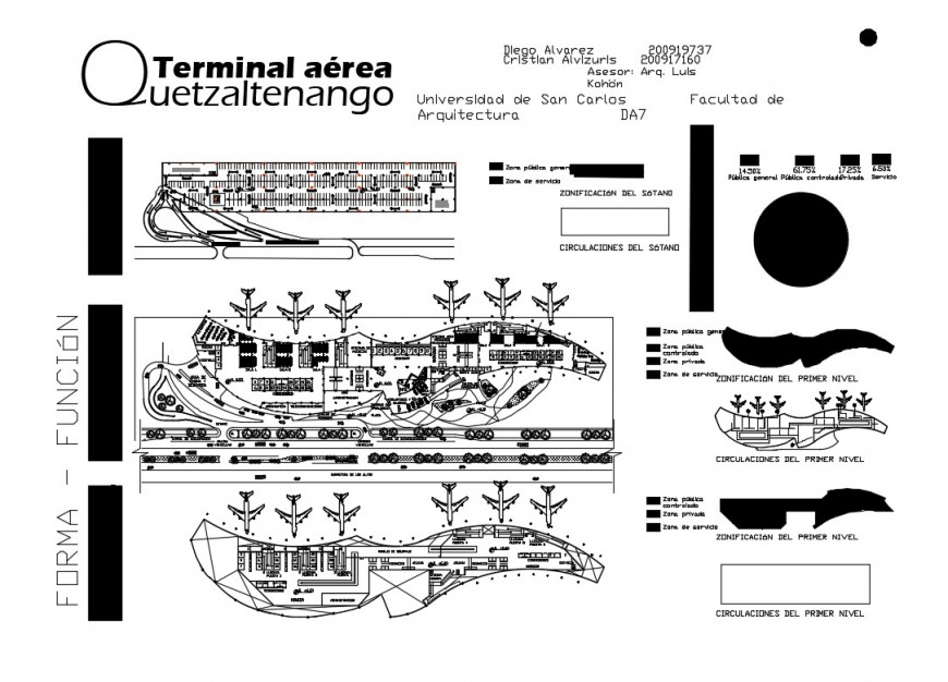 Terminal building and runway plan detail 2d view layout Autocad file