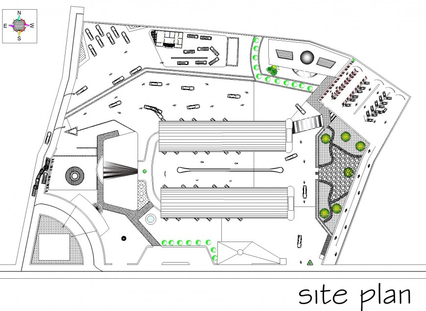 Terminal project trodovia site plan detail dwg file