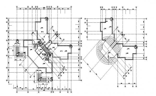 terrace floor plans AutoCAD File Free