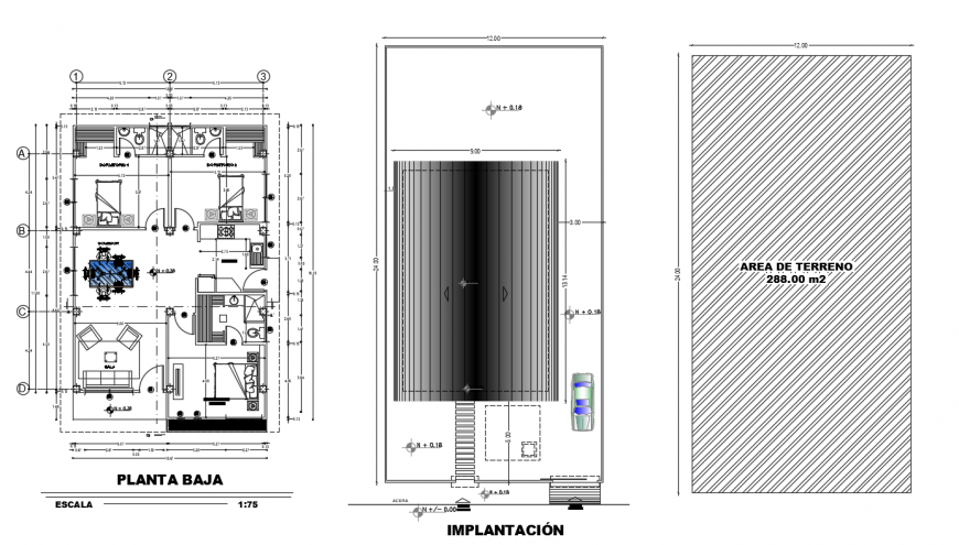Terrace layout plan with architecture layout plan detail dwg file