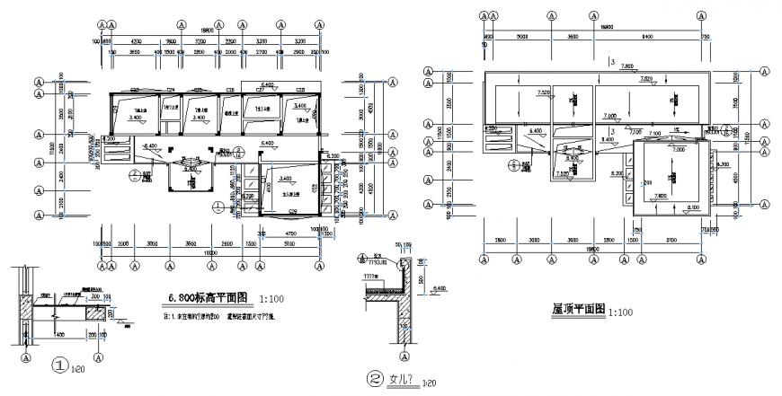 Terrace tank planning detail dwg file