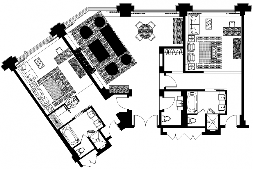 The 2D house plan & detailing dwg file.
