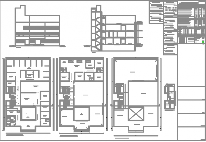 The 2D house plan with detail dwg file.