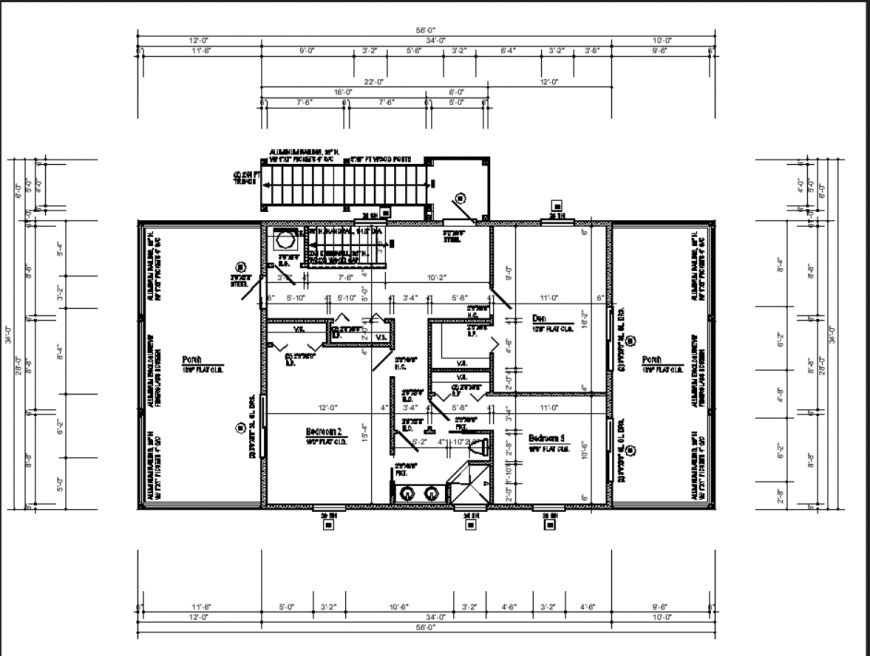 The 2D house plan with the detail dwg file.