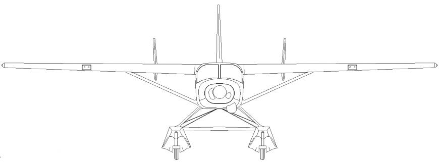 The air-plane plan detail dwg file.