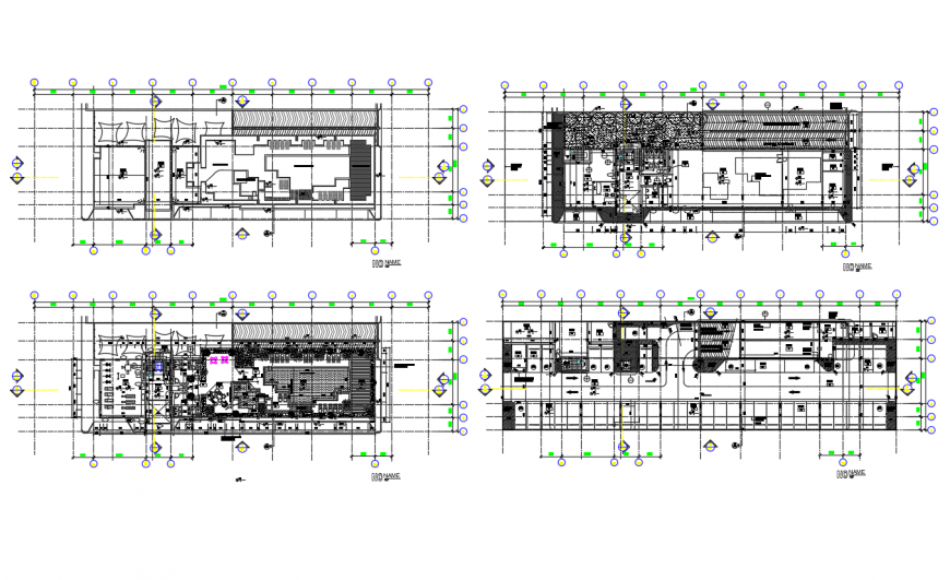 The architectural Club house floor plan detail dwg file