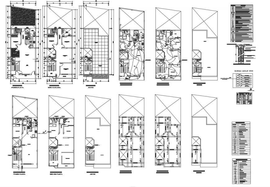 The Architecture Single house dwg file