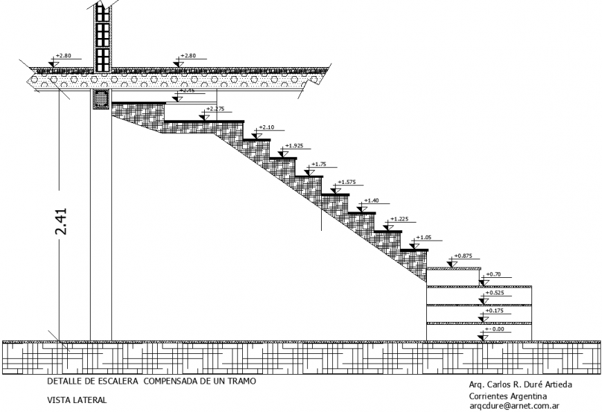 The bridge elevation plan with a detailing dwg file.