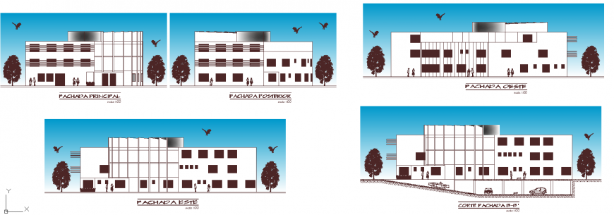 The building plan with detail & dwg file.