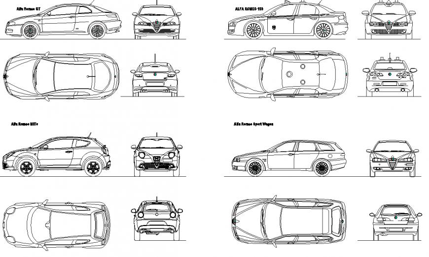 The car plan detail dwg file.