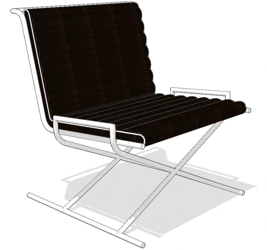 The comfort chair plan detail dwg file.