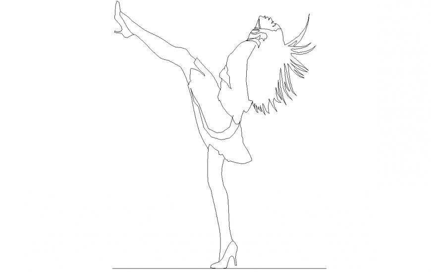 The dancing lady plan detail dwg file.