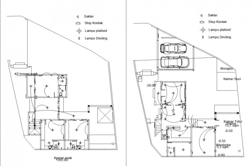 The electric layout plan with detail & dwg file.
