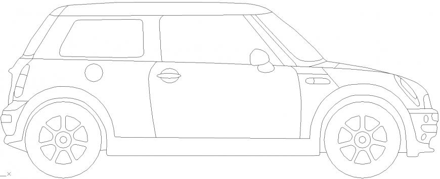 The four wheeler vehicle plan detail dwg file.