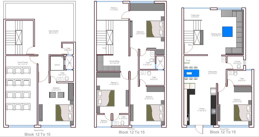 The house plan furnished detailing of a dwg file.