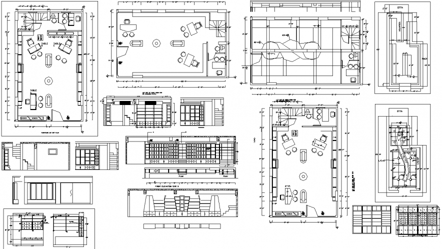 The house plan detailing of a dwg file.