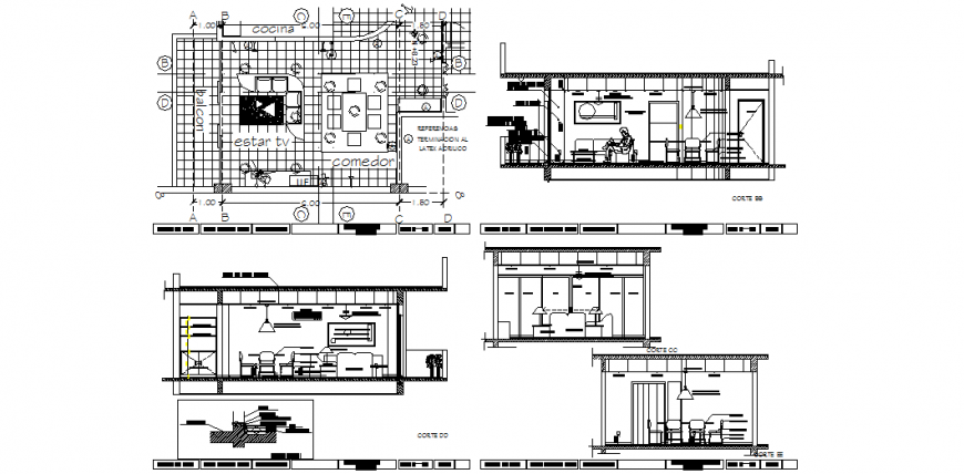 The house plan with a detail & dwg file.