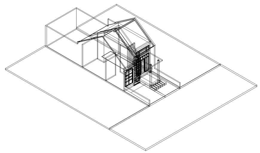 The house plan with a detail of dwg file.