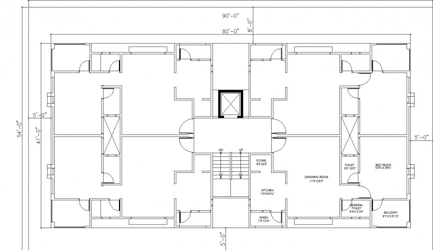 The house plan with a detailed of a dwg file.
