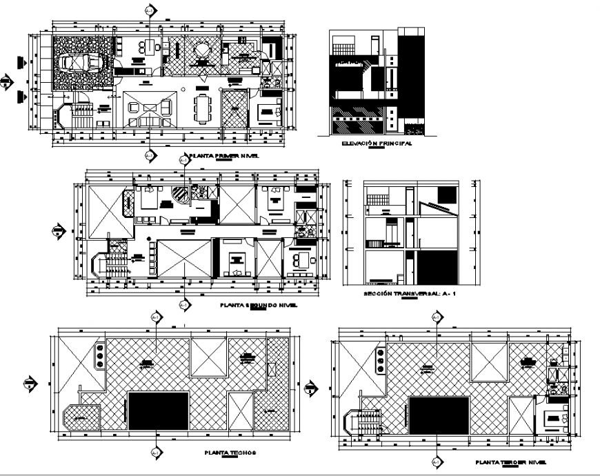The house plan with detailed of dwg file.