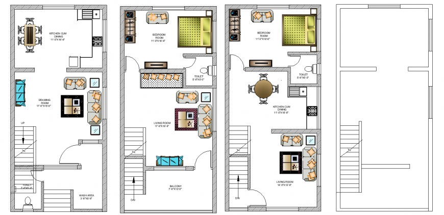 The house plan with furnish detailing dwg file.