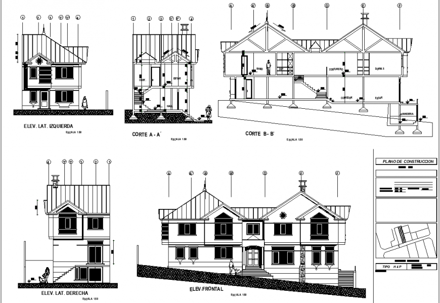The house plan with the detail dwg file.