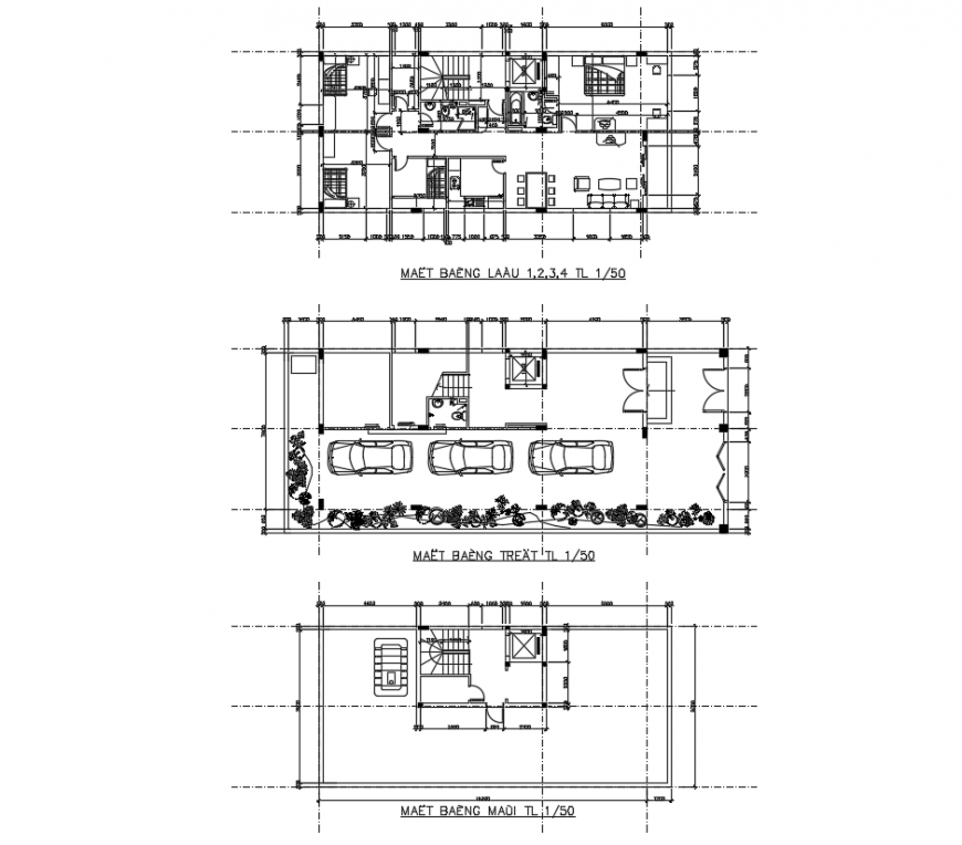 The layout House plan dwg file