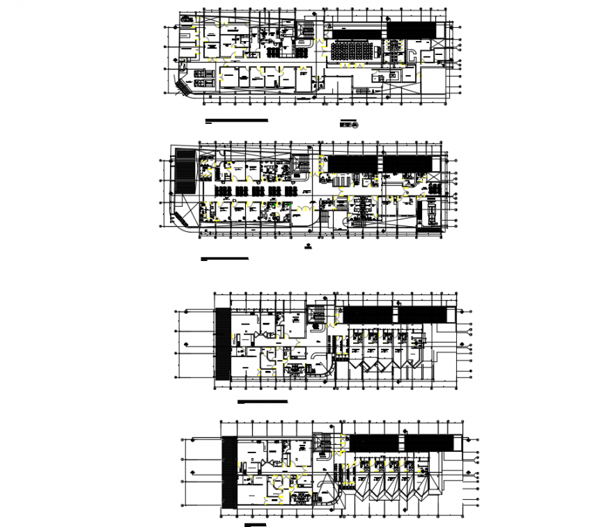 The layout plan Health center detail, Autocad format