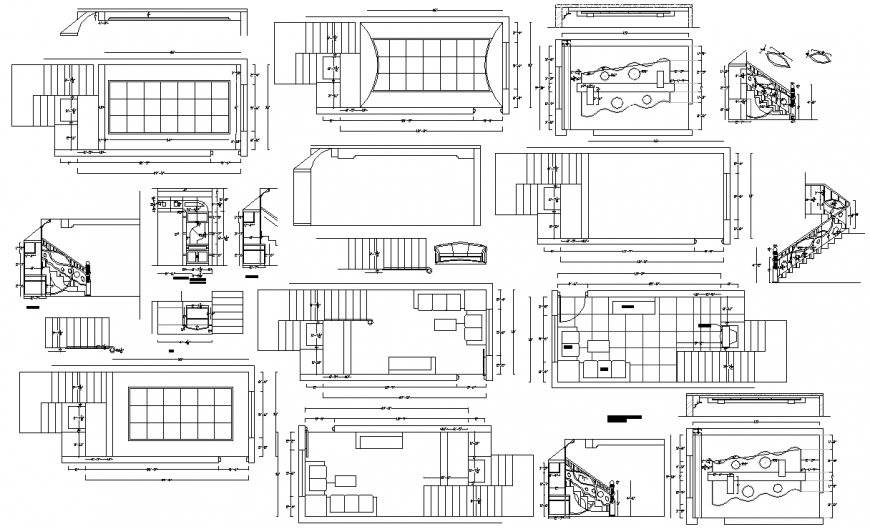The living room plan with furnish detailed of dwg file.