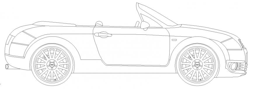 The open car plan detail dwg file.